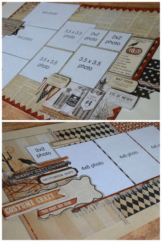 Scrapbook generation layout