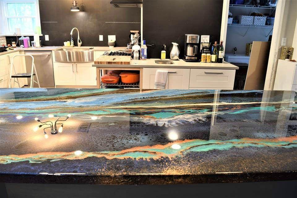Metallic Marble CounterTop Artisan Concrete