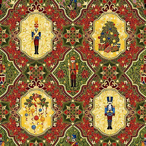 Nutcracker Christmas Cotton Quilting Fabric Panel - 60cm x 110cm Paintbrush Studios http://www.amazon.co.uk/dp/B00NBT2096/ref=cm_sw_r_pi_dp_9nzcub06V45WE