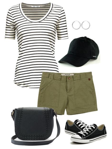 ef9fc12d2ec Casual Summer Clothes. Casual Summer. One black and white striped shirt +  eight striped shirt outfit ideas. This classic piece