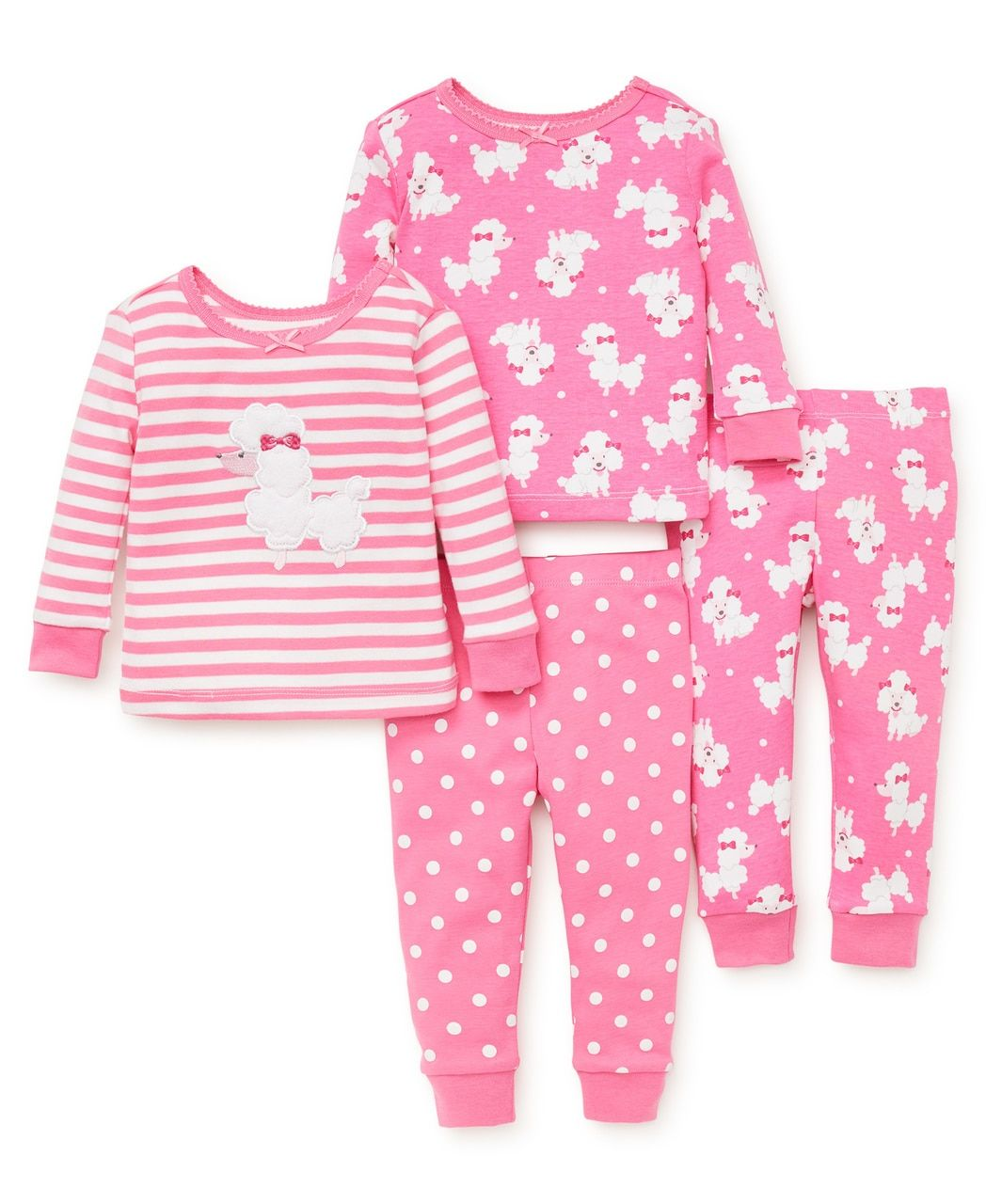 5504ad0958 Poodle 4-Piece Pajama Set | Baby fashion | Pinterest | Pajama set ...
