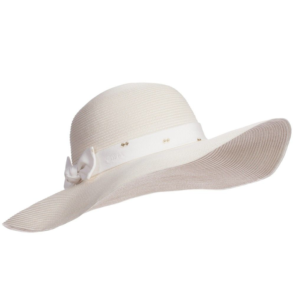 38ab1eba40a Girls Ivory Straw Sun Hat