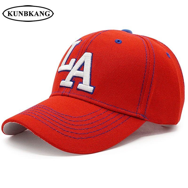 f577f64c65 New Letter LA Baseball Cap Men Women Embroidery 3D Snapback Hat Dad ...