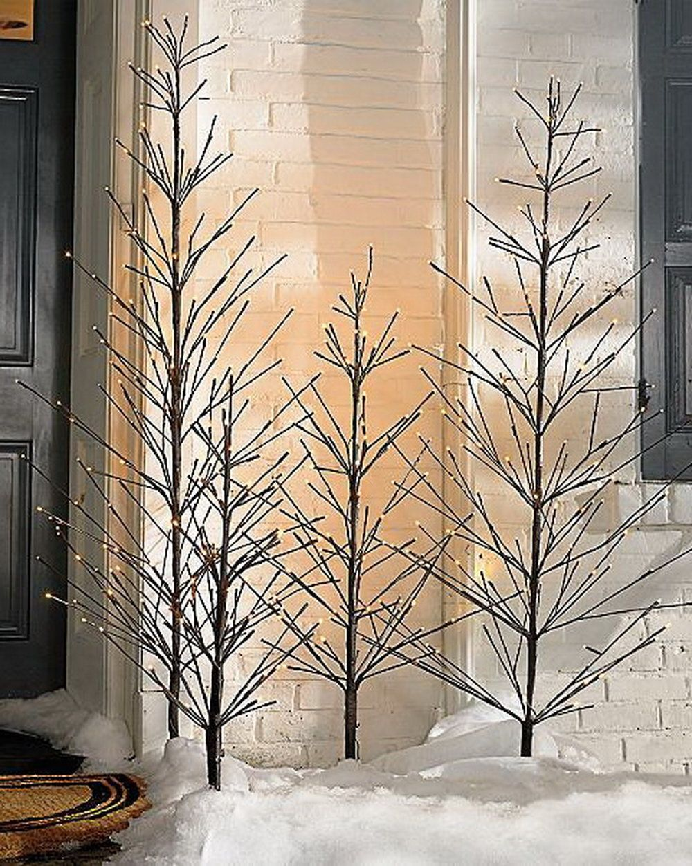 put a designer spin on your christmas curb appeal using our battery operated outdoor twig - Battery Operated Outdoor Christmas Decorations