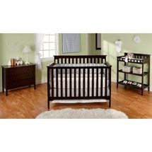 Walmart Bsf Baby Grace 4 In 1 Crib Changing Table And Clothing Organizer Cherry 4 In 1 Crib Baby Room Furniture Cribs