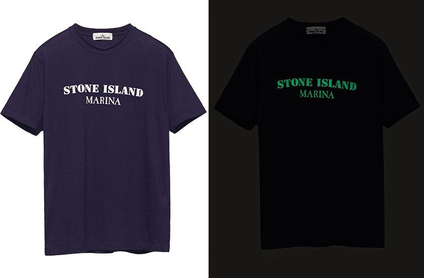 693d763f5c 245XC STONE ISLAND MARINA_GLOW-IN-THE-DARK PRINT Short sleeve T ...