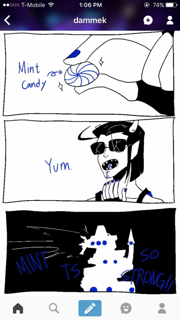 Equius likes mint