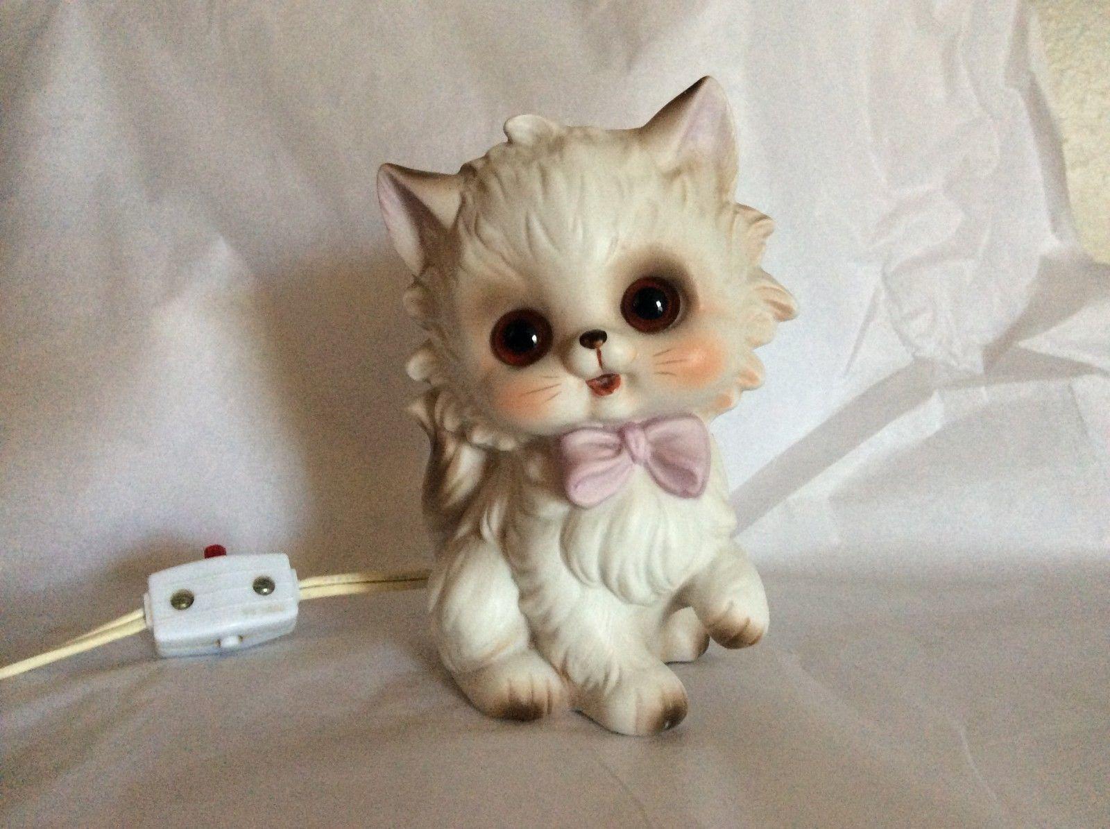 Vintage Josef Originals Kitten Kitty Cat Lamp Night Light
