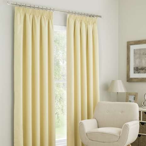 Finished In A Soft Yellow Colourway These Pencil Pleat Curtains Are Fully Lined To Reduce Unwanted Light Entering And Retain Warmth