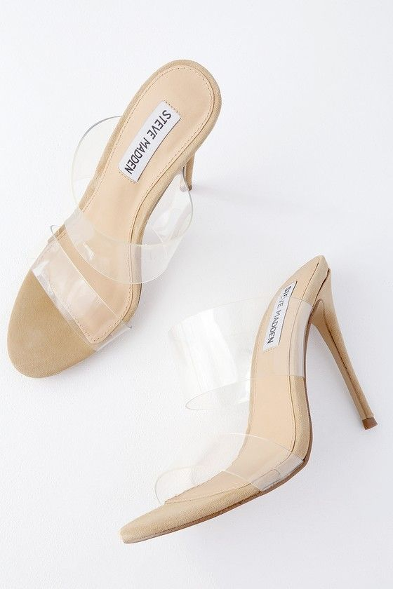 7005bda82c2 Charlee Clear Vinyl High Heel Sandals in 2019 | Products | High ...