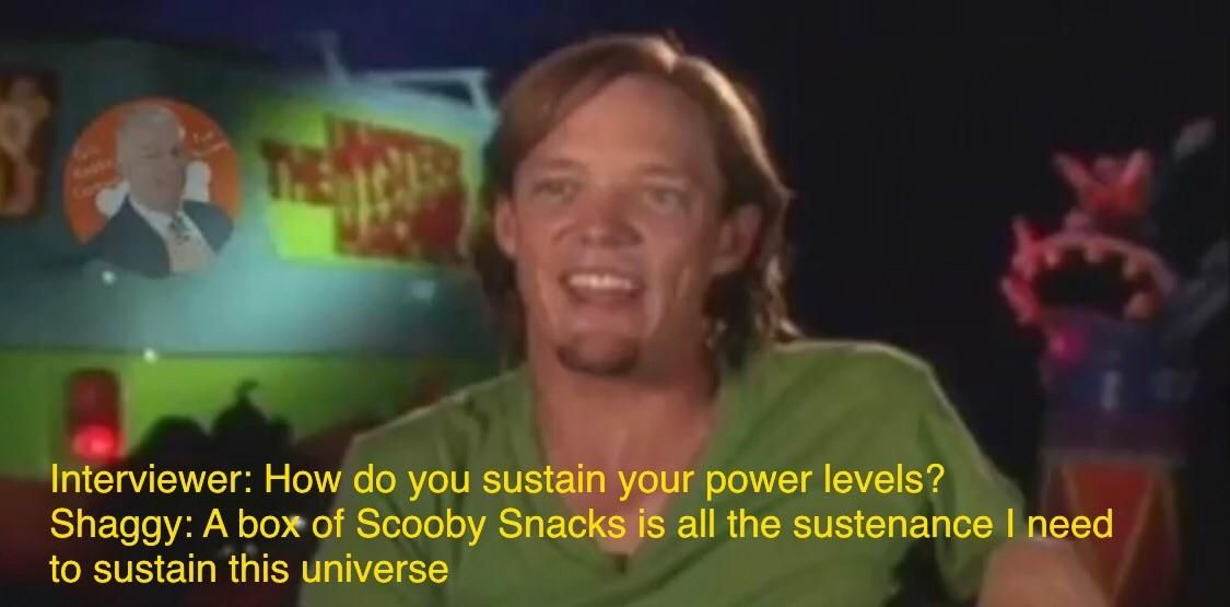 Its not how powerful shaggy is but why he is so powerful ...
