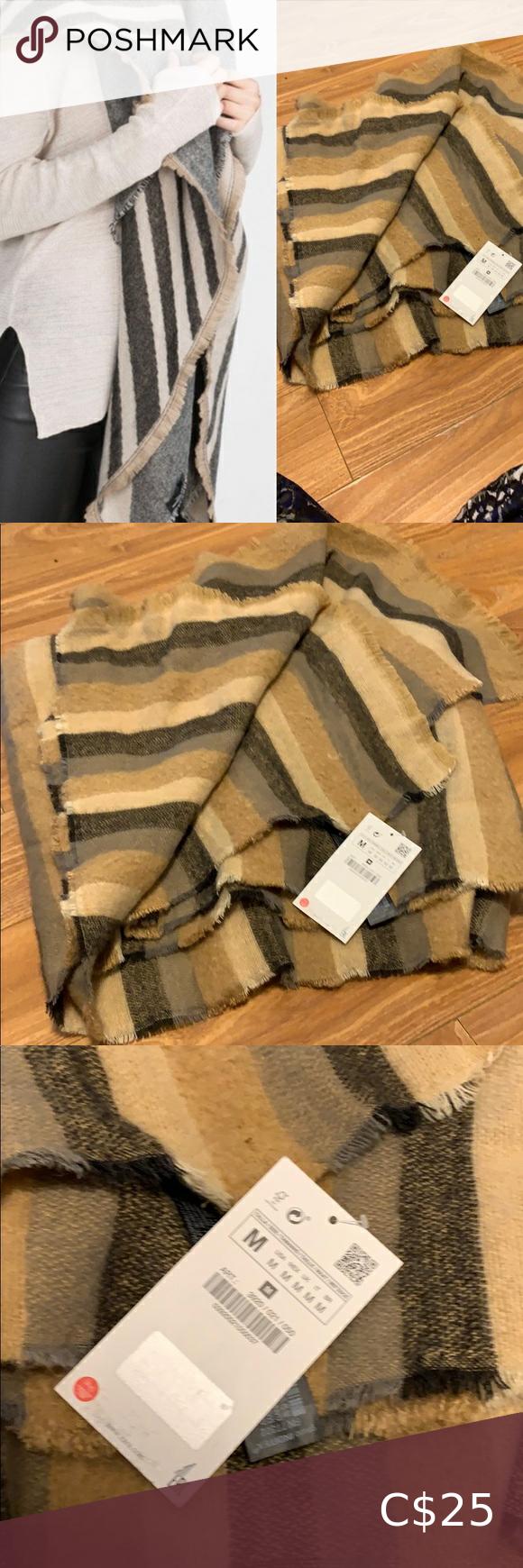 Photo of Zara new blanket scarf stripe