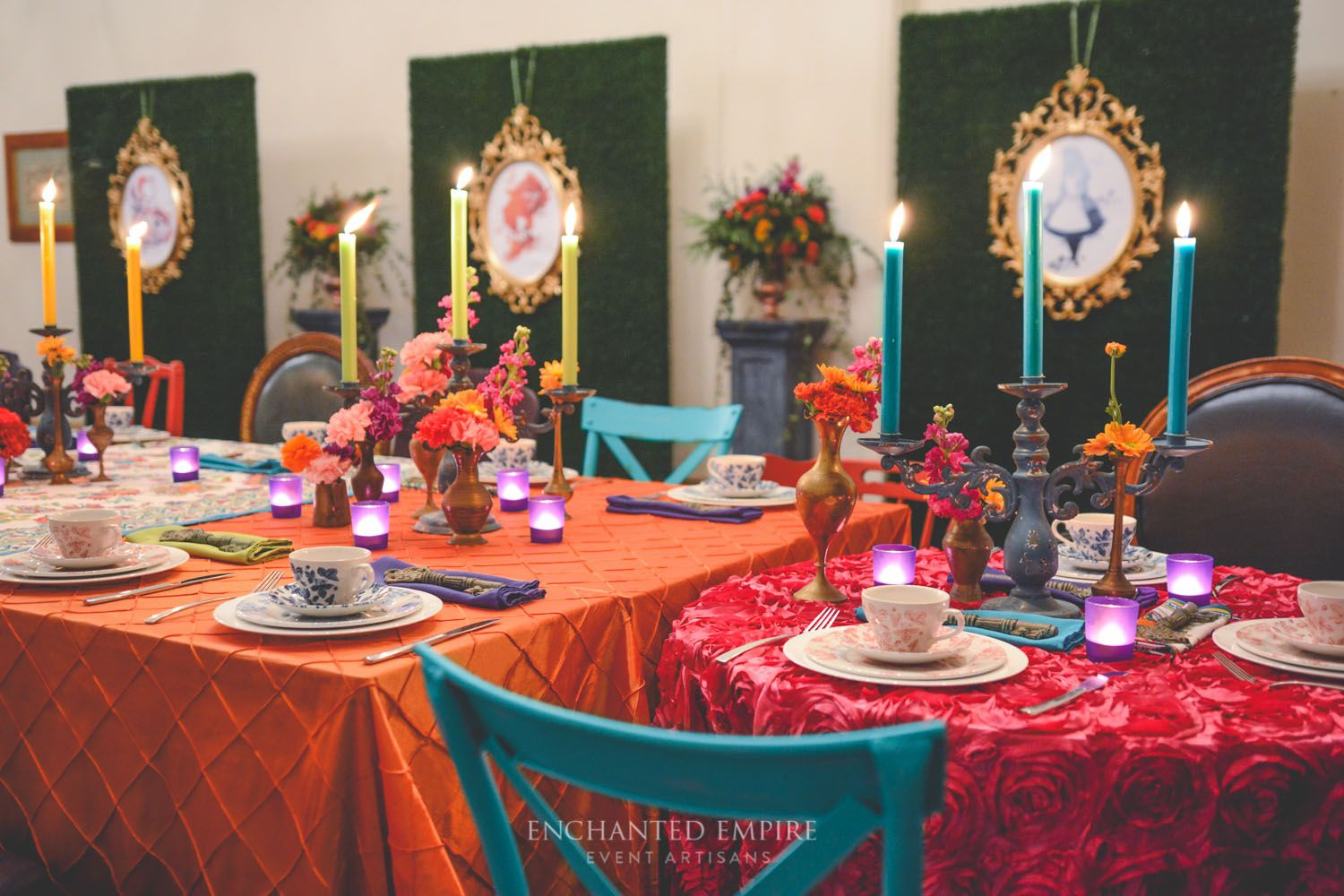 This Corporate Mad Hatteru0027s Tea Party Was Set With An Eclectic Mix Of  Coloured, Textured And Vibrant Table Linen. Drawing On Fun, Crazy And Mad  Elements Of ...