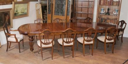 Mahogany Victorian Dining Set Extending Mahogany Dining Table Sheraton Dining  Chairs Classic English Dining Furniture