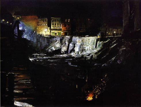 Excavation at Night