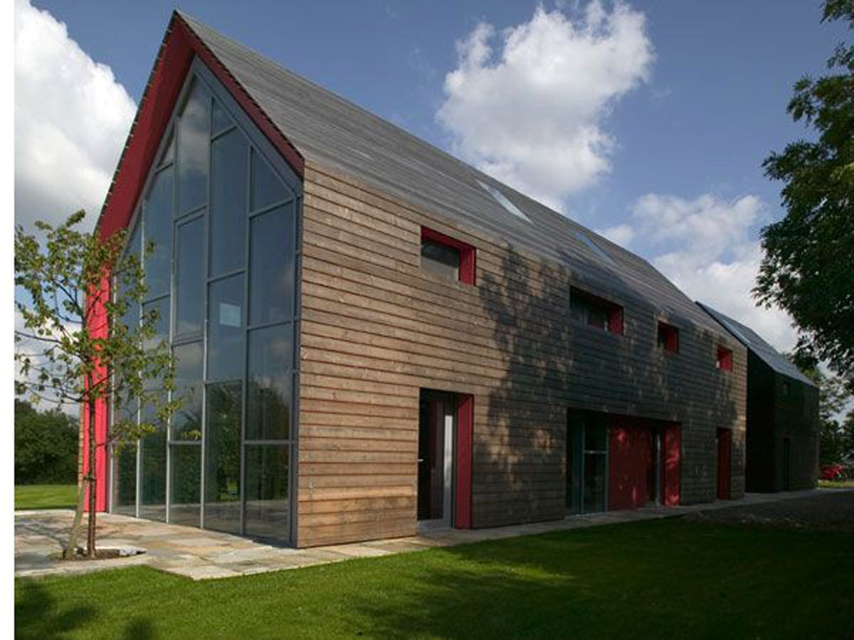 Sliding Barn House Modern Style With Glass Design Touch