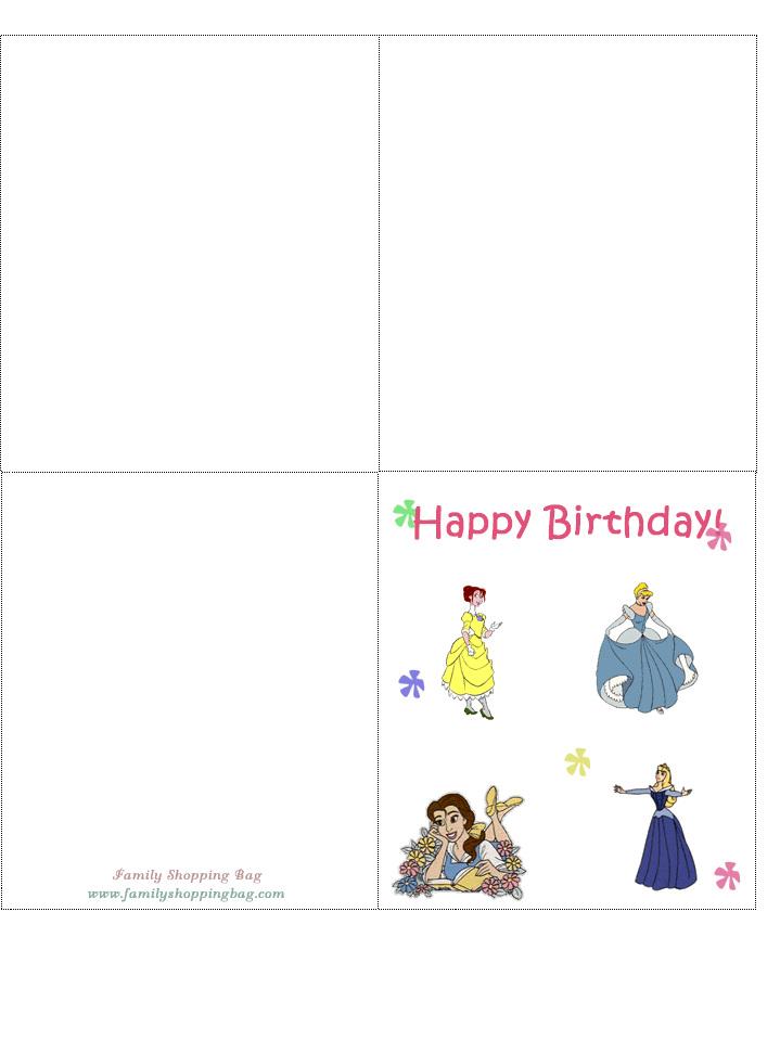 Free Printable Disney Birthday Cards 3 D Printables And