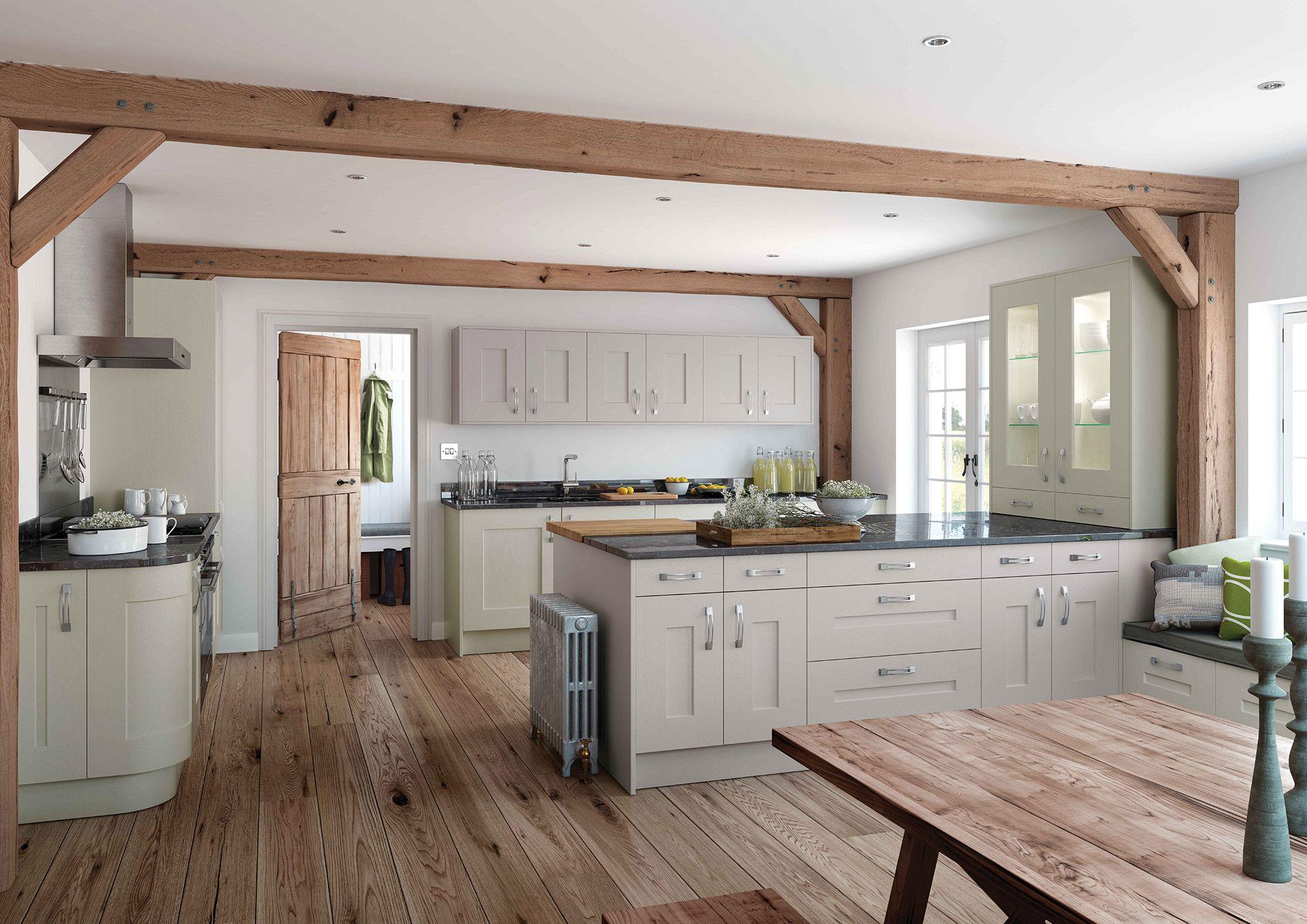 Shaker Kitchen. Solva Heritage Grey & Mussel | Contemporary Kitchens ...