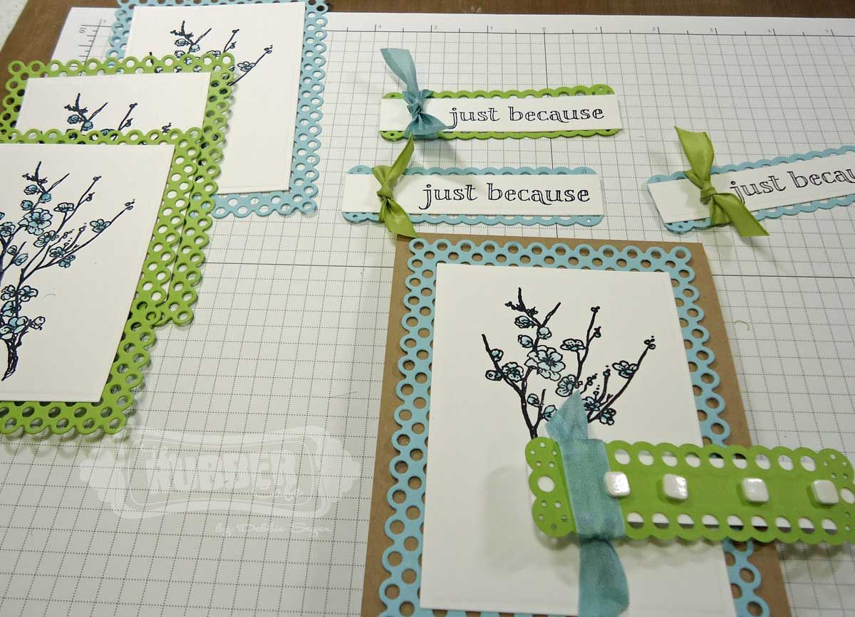 The Rubber Cafe Design Team Blog: Just Because... from Spellbinders new card creator dies