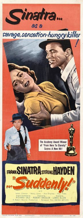 """SUDDENLY"" movie poster (1954)."