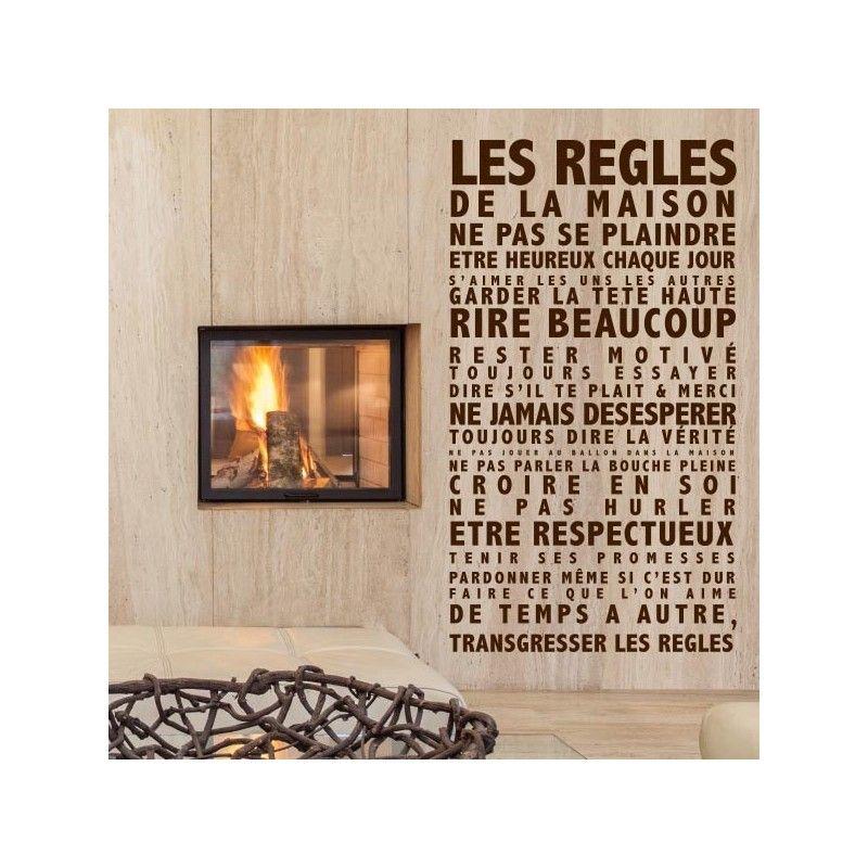 sticker les r gles de la maison sur mesure personnalis les r gles de la maison pinterest. Black Bedroom Furniture Sets. Home Design Ideas