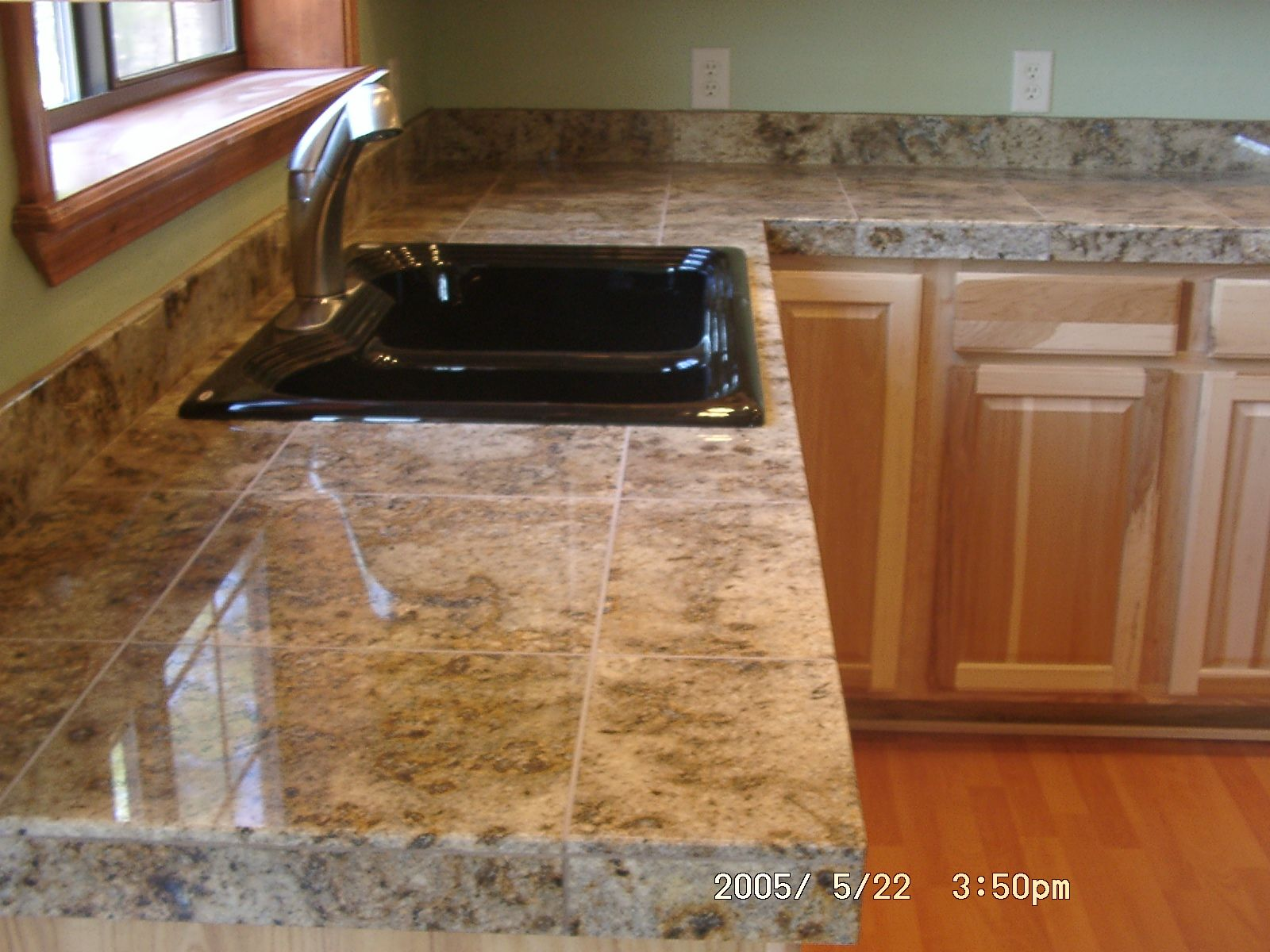 Kitchen Tile Countertops Sink Farmhouse Counter Tops Kitchens And Things Pinterest