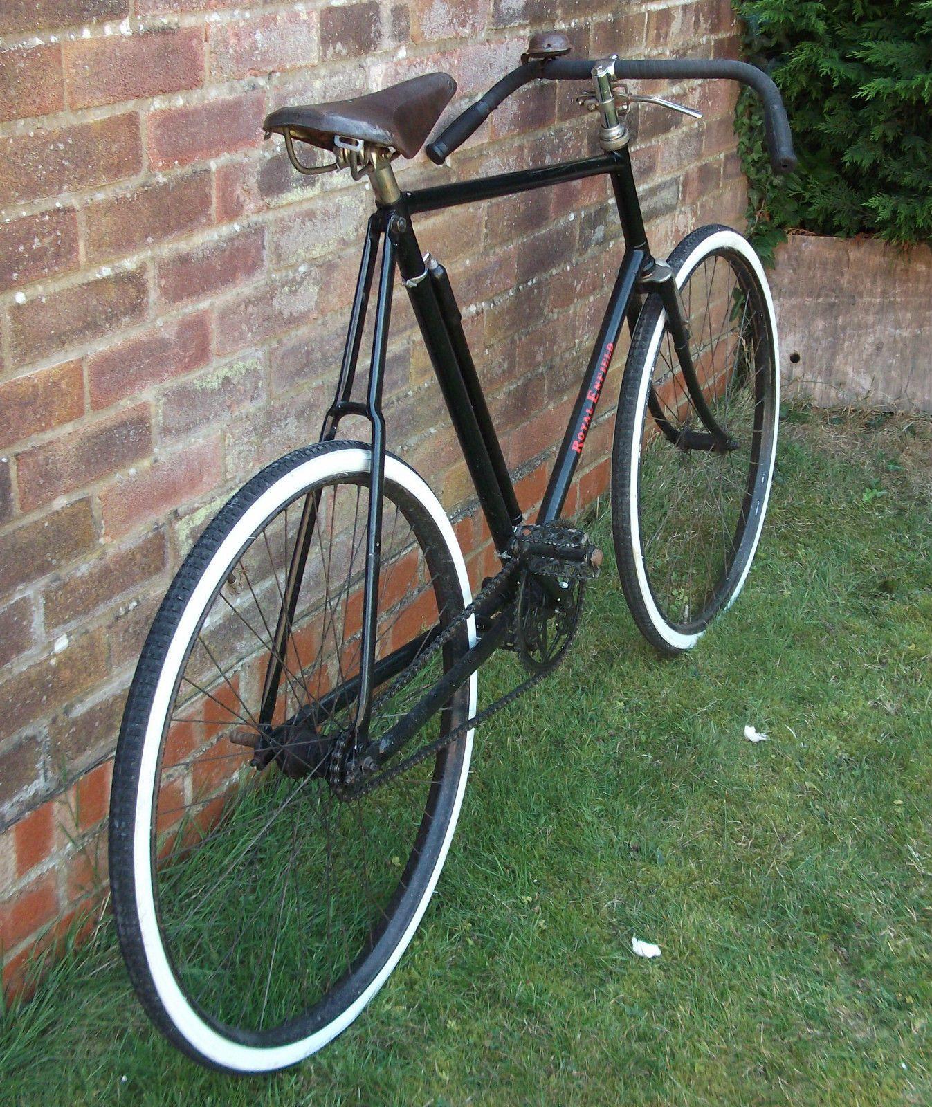 Kjempebra Vintage Veteran Royal Enfield Sloping Top Tube Pathracer Bicycle MF-08