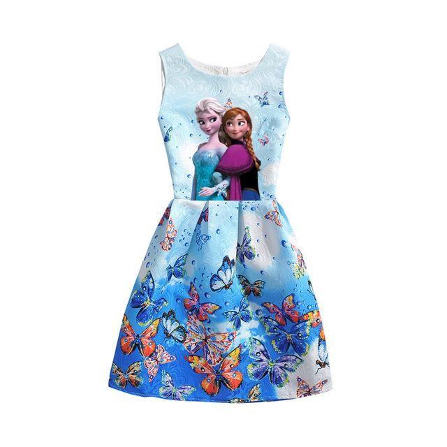 6f2edd1abf7b 2017 Summer Girls Dresses Elsa Dress Anna Princess Party Dress For ...