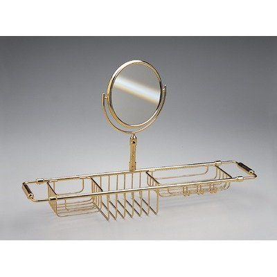 Extendable Shower Caddy With Mirror Finish Chrome By Windisch By Nameeks 533 39 85115cr Finish Chrome Features Bathtub Accessories Nameeks Shower Caddy