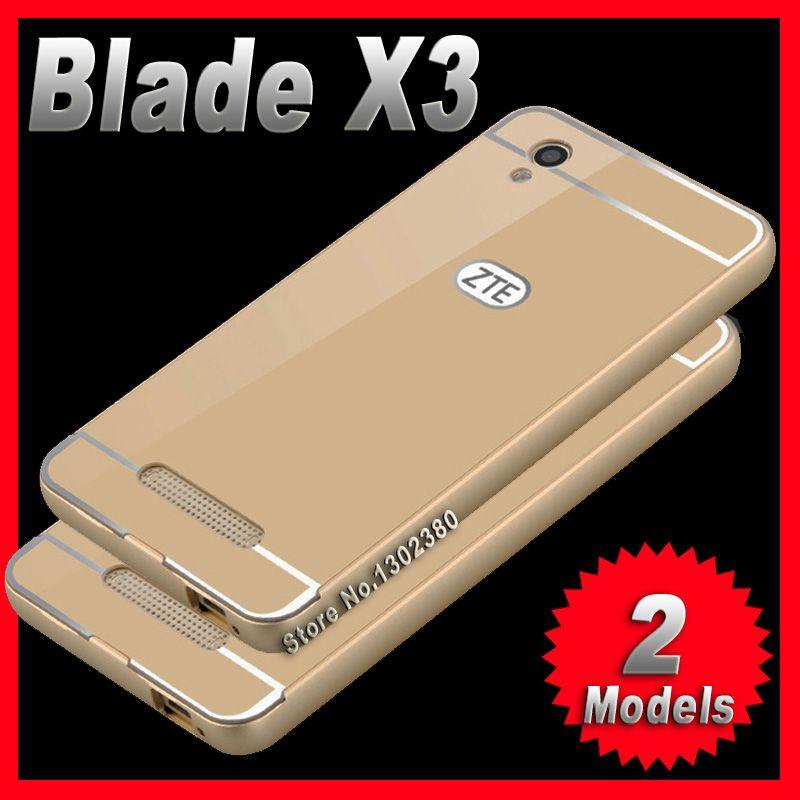 Zte blade x3 case cover d2 slim aluminium luxus zte blade case x3 d2 telefon metallrahmen acryl rückseitige abdeckung für zte x3 case abdeckung