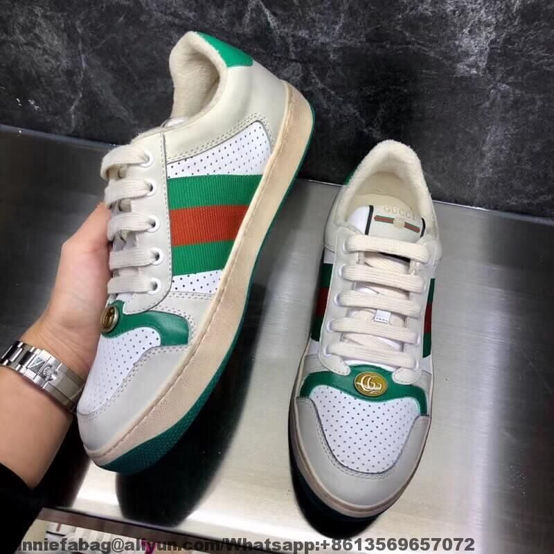 9e5ac64017 Gucci Screener Leather Sneaker 546163 2018 | Shoes | Leather ...