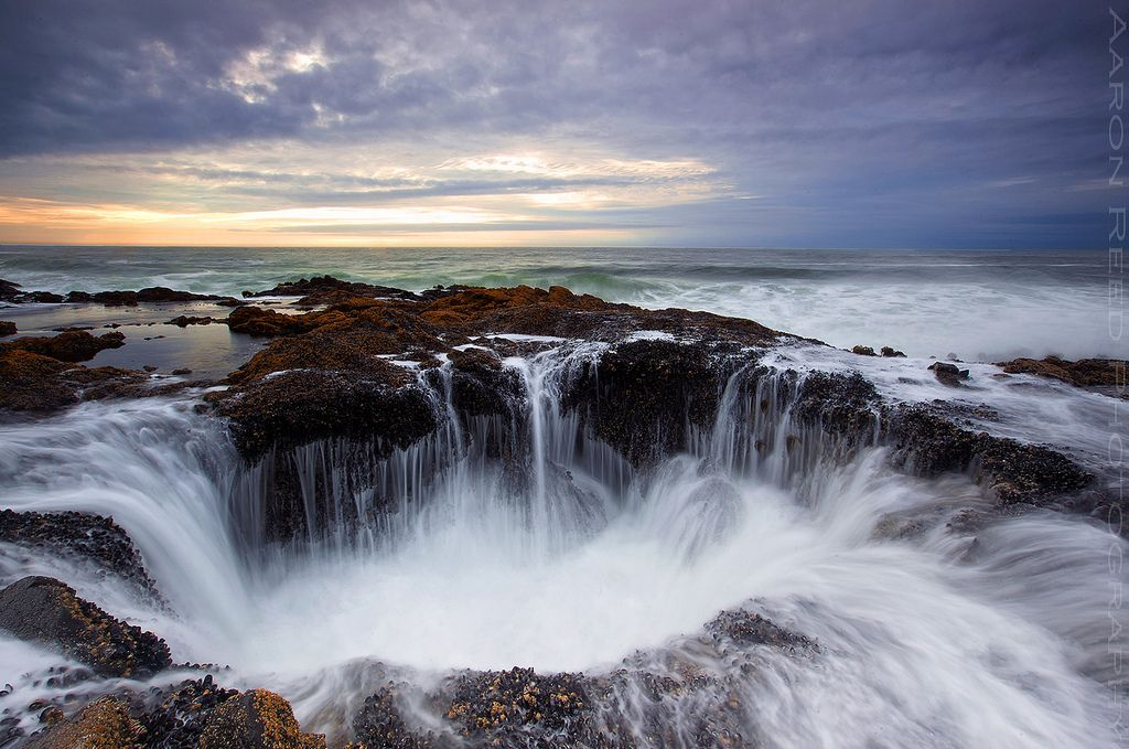The Rugged Oregon Coast - Thor's Well by Aaron Reed
