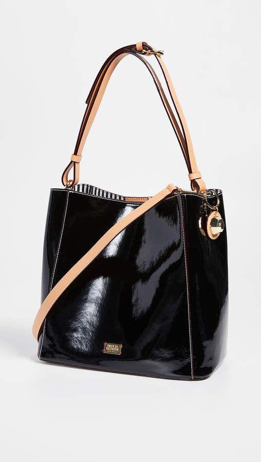 c392eb7ebe Frances Valentine Soft Patent Medium June Hobo Bag