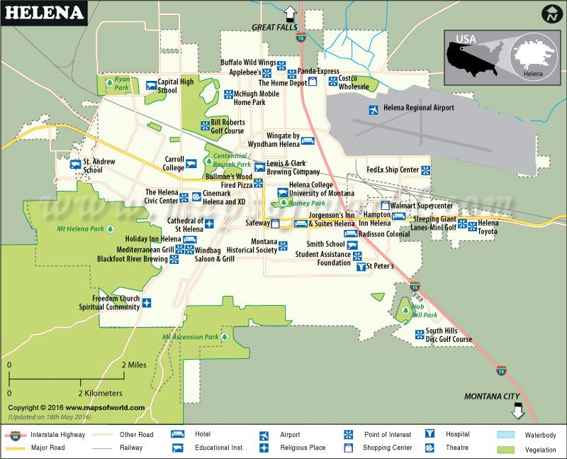Map Of Helena USA Maps Pinterest Montana Highway Road And - Montana map with cities