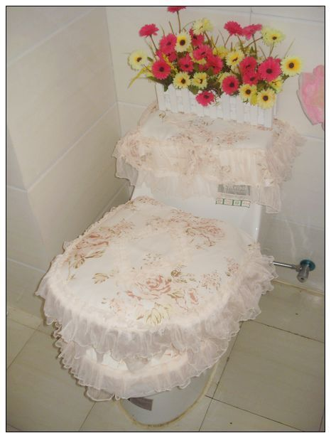 Cloth Exquisite 100 Cotton Flowers Three Piece Set Toilet