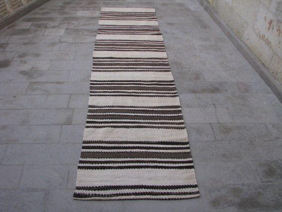 10 7 X 2 Minimalist Striped Kilim Runner
