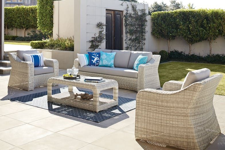 Sicily 4 Piece Outdoor Lounge Setting | Pinterest