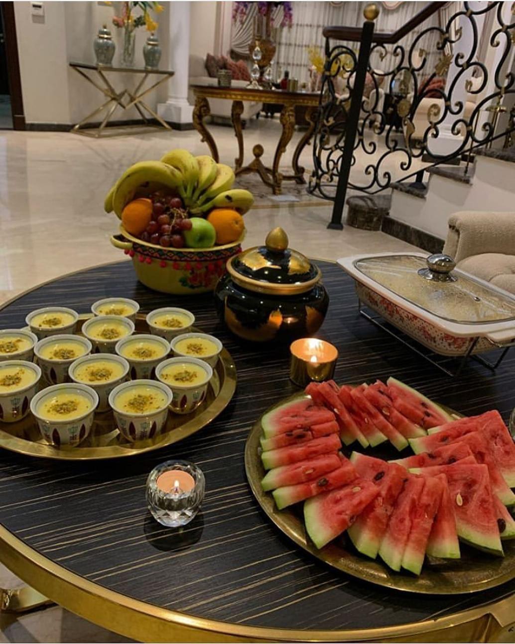 تقديماتكم Posted On Instagram حسابي هذالاسبوع برعاية هالجميله Noorraa 26 تعرض لكم تقديماتها وطبخاتهاحسابها ماشاءالله تبا Food Table Settings