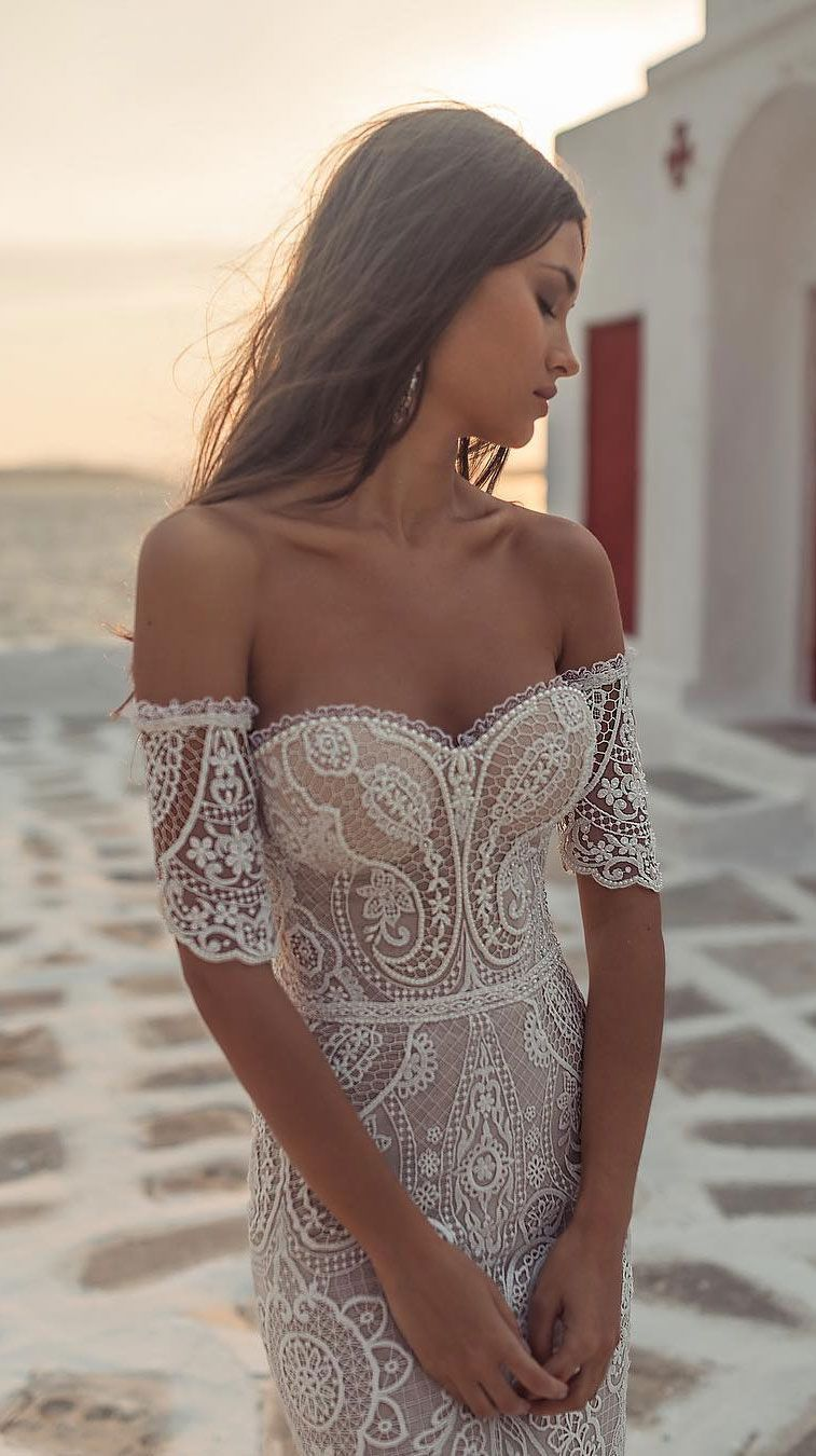 Wedding dress with gorgeous details that absolutely breathtaking - Wedding hairstyles | Wedding makeup | Nail Art Designs #greekweddingdresses