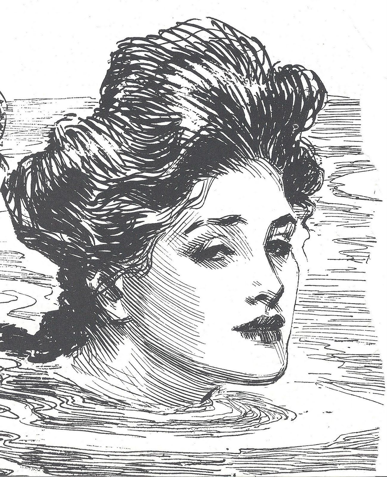 Thrifty Artist Gibson Girl And Vintage Map Clip Art Art Gibson Girl Illustration Art