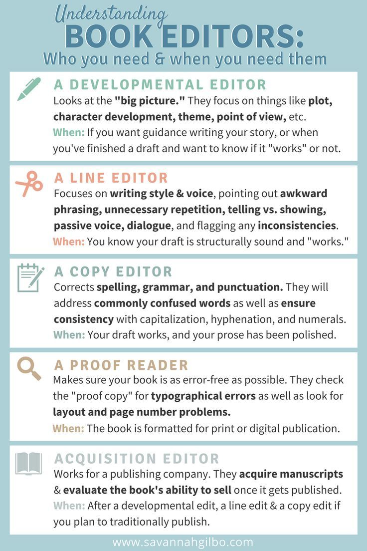 Understanding Editors: Who You Need and When - SAVANNAH GILBO