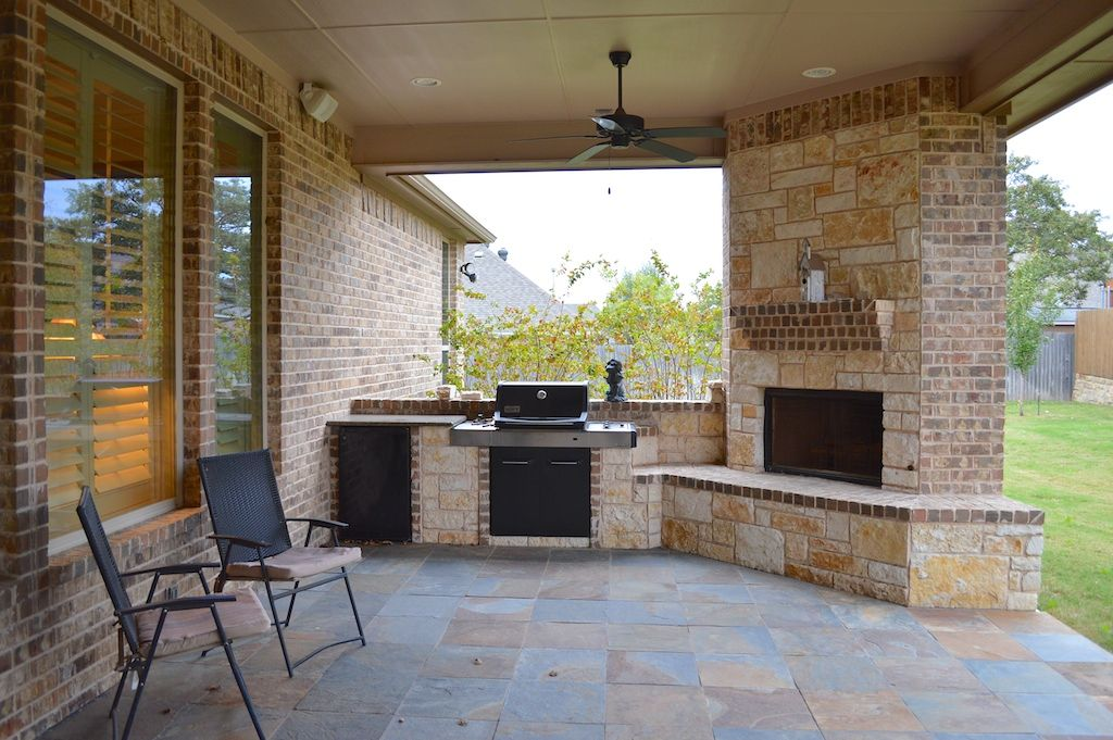 Outdoor Gas Fireplace And Grill Google Search Patio