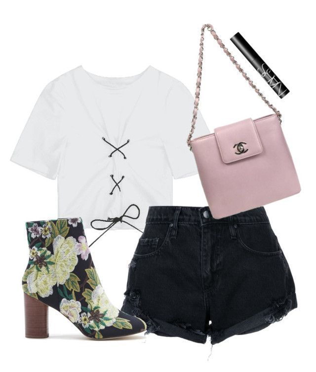 """""""Untitled #2976"""" by moria801 ❤ liked on Polyvore featuring Nobody Denim, Sole Society, Chanel and NARS Cosmetics"""