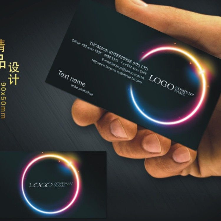 custom black business card printing free design and full color two ...