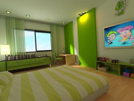 Dormitorio adolescente 550 413 p xeles - Habitaciones infantiles verdes ...