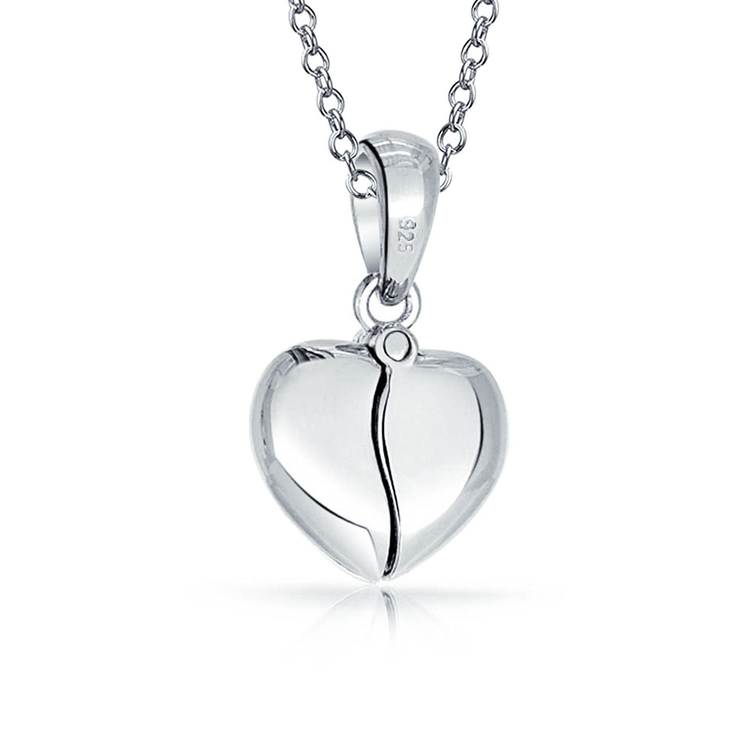 Photo of Word Quote I Love You Best Friend Mom Heart Locket Pendant Necklace