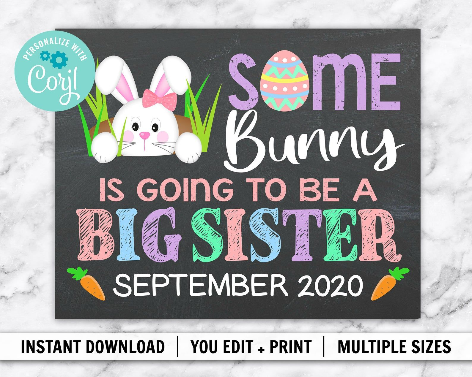 Pin On Easter Themed Pregnancy Announcements Photo Props