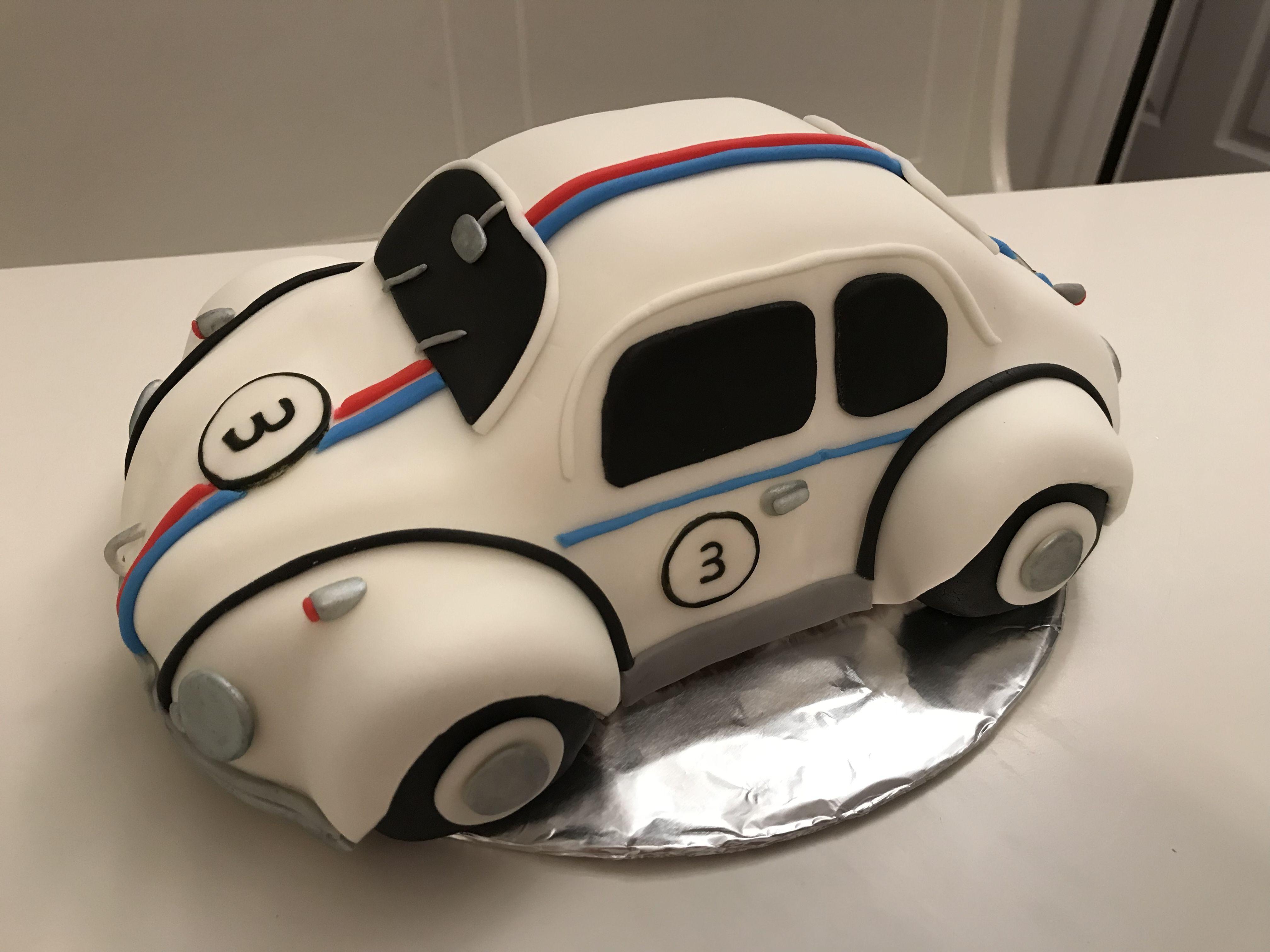 Herbie The Love Bug Cake Fondant Boy Birthday VW Beetle