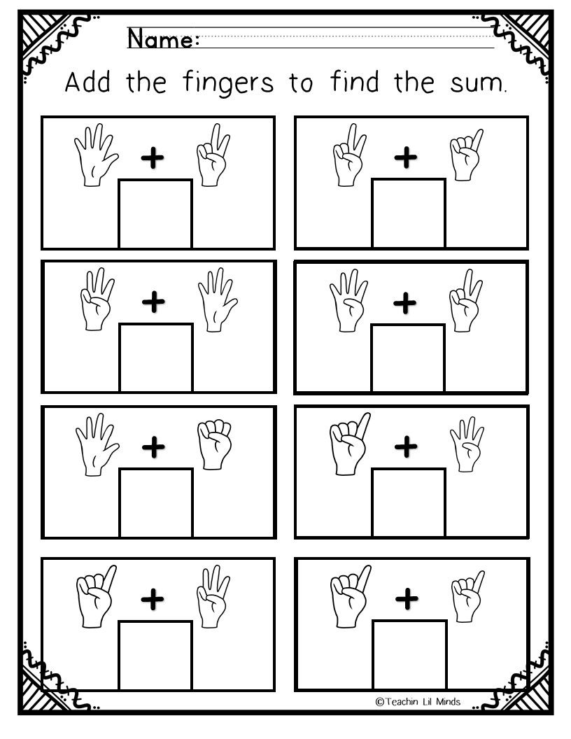 Adding With Pictures Addition Worksheets Worksheets Elementary Worksheets [ 1056 x 816 Pixel ]