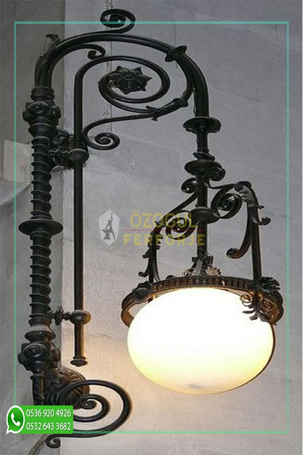 Photo of Ferforje Özel Tasarım Evcil Lamba / Wrought Iron Special Design Lamb